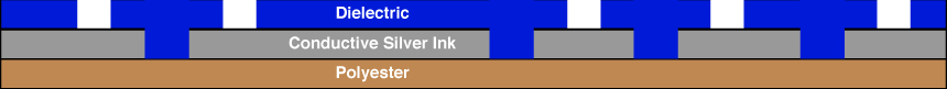 Single Layer Membrane Switch